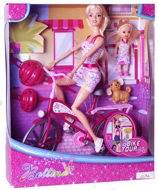Кукла с велосипедоим 68194 (36/2) в коробке