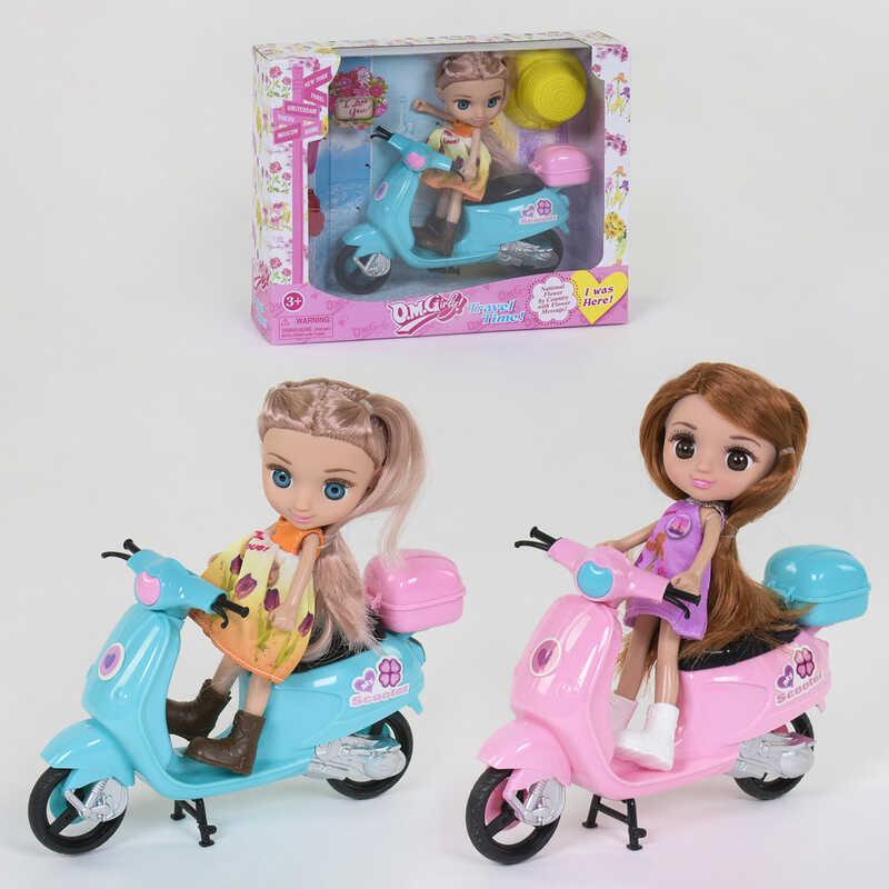 Кукла с мопедом 65020 (64/2) 2 вида, в коробке