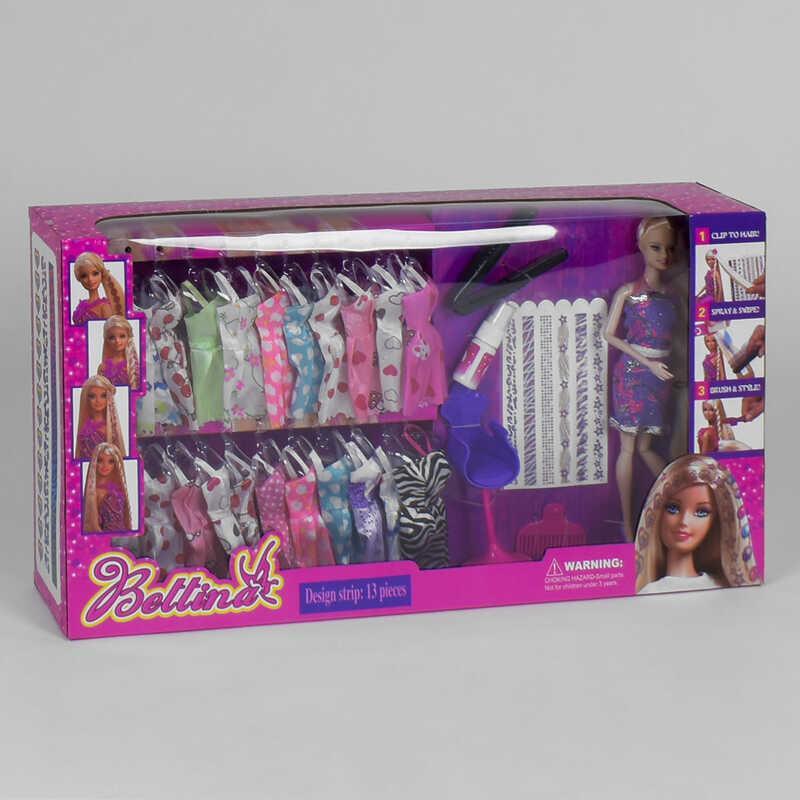 Кукла с нарядами 68152 (12/2) аксессуары , в коробке
