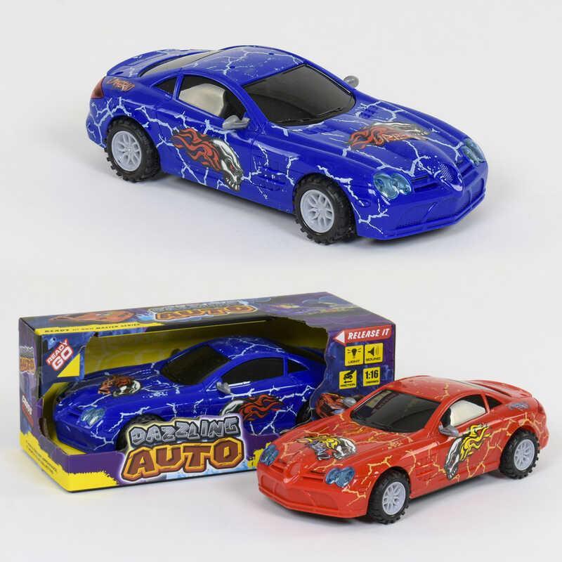Машина 1300 А (72/2) 2 цвета, инерция, свет фар, звук, в коробке