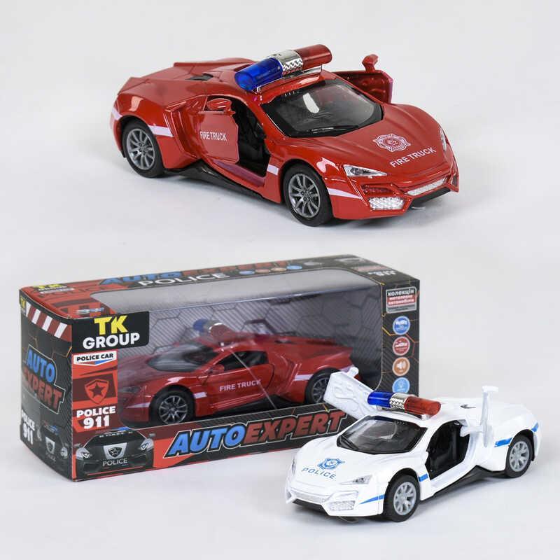 """Машина металлопластик P 83068 (96/2) """"Auto Expert"""", 2 цвета, свет, звук, инерция, открываются двери, в коробке"""