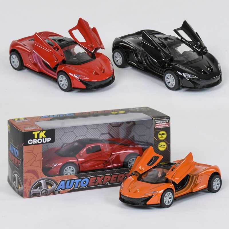 """Машина металлопластик S 25099 (96/2) """"TK GROUP"""" 3 цвета, инерция, открываются двери, в коробке"""