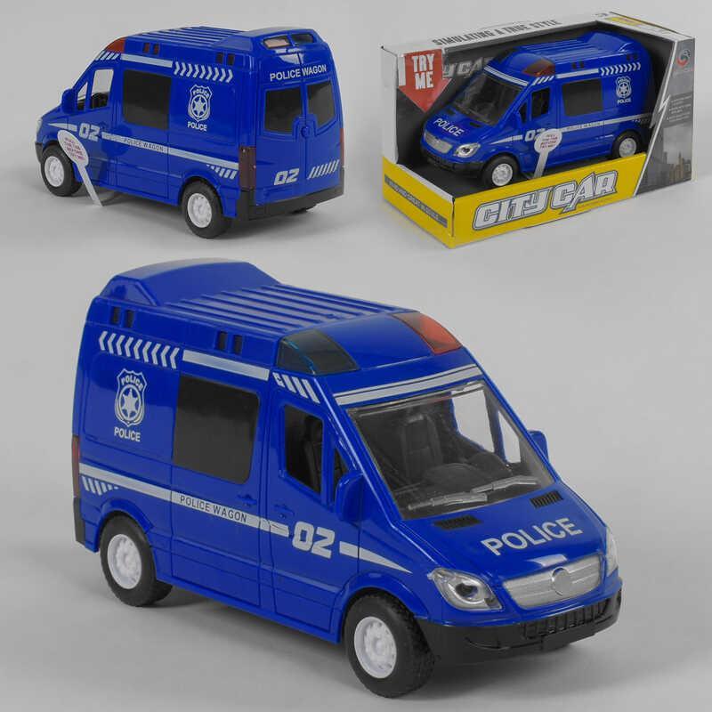 """Машинка QS 3004-3 """"Полиция"""" (120/2) свет, звук, инерция, в коробке"""