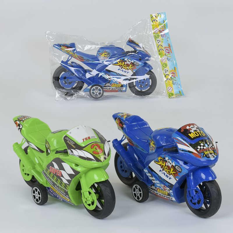 Мотоцикл А 0753 / А 0751 (240/2) 2 цвета,1шт в кульке