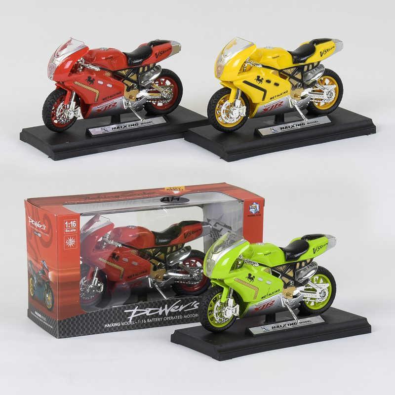 Мотоцикл НХ 780 (240/5) 3 цвета, свет, звук, в коробке