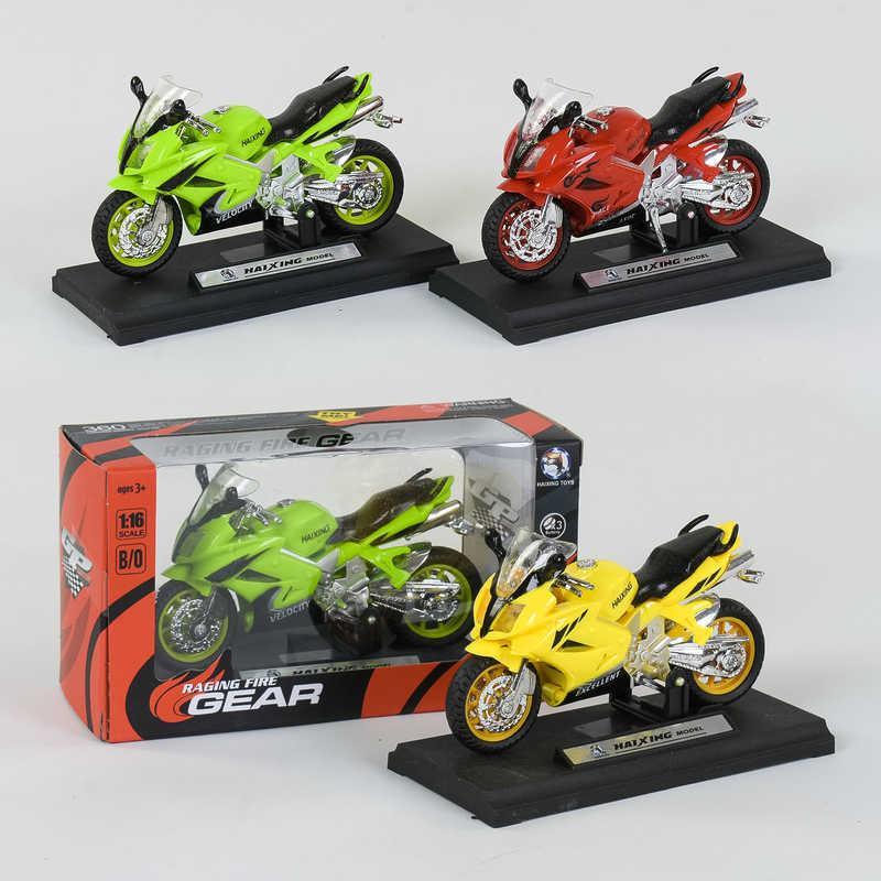Мотоцикл НХ 788 (240/5) световые и звуковые эффекты, 3 цвета, 1шт в коробке