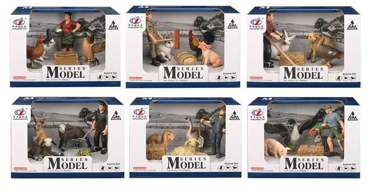 Набор животных Q 9899 Т-7 (72/2) 6 видов, в коробке