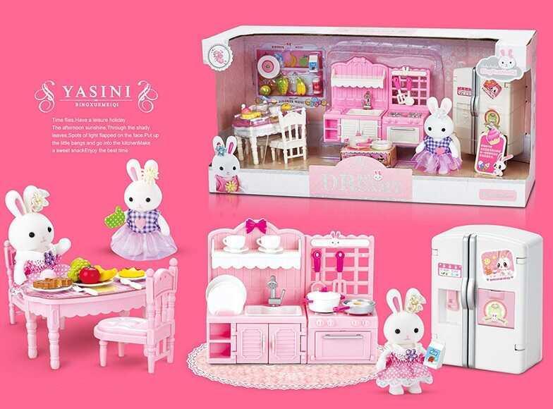 Набор мебели с флоксовым животным 6617 (24) в коробке