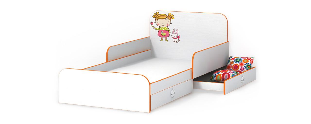 Кровать Мандаринка с бортиками