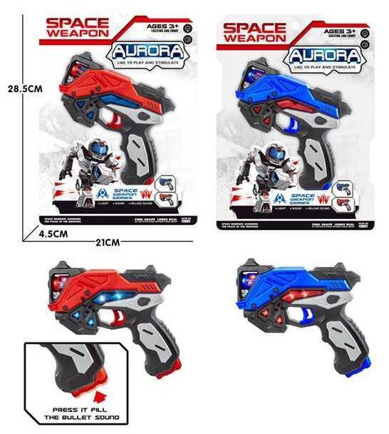 Пистолет КТ 8889 - F13 (96/2) 2 цвета, свет, звук, в коробке
