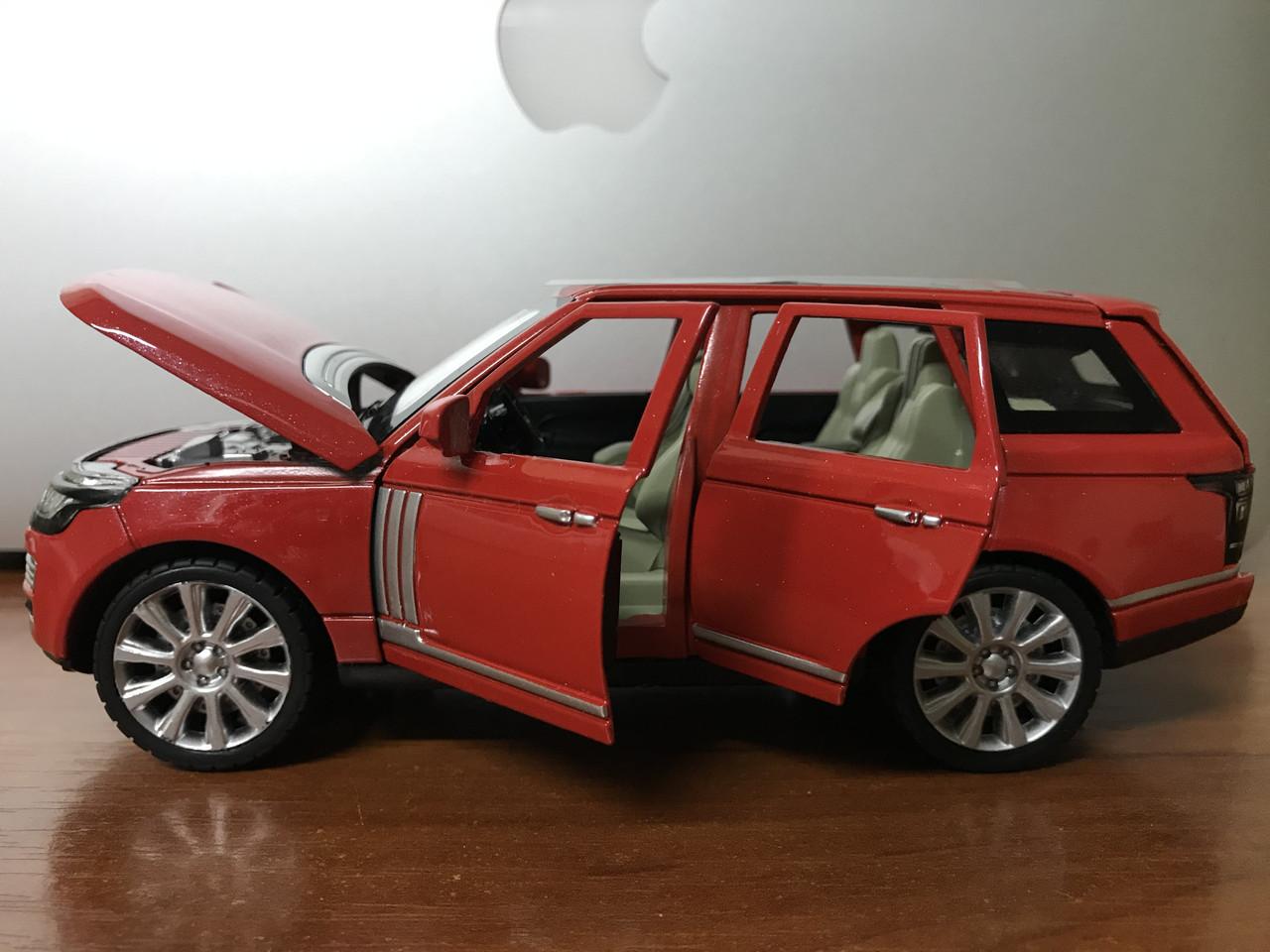 Машинка коллекционная Range Rover, красный 1:24 XLG