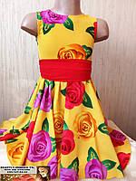 Детское платье летнее нарядное для девочки 3, 4, 5 лет