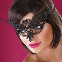 Женская карнавальная маска на глаза чёрный ( 190 003 )