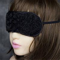 Эротическая женская маска на глаза   Черный ( 190 012 )