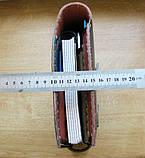 Шкіряна папка органайзер для планшета, смартфона, документів, з пеналом для ручок, щоденника, ручної роботи, фото 10