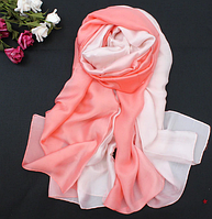 Шелковая шаль, палантин 190х90см