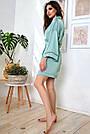 Халат шёлковый женский бирюзовый, фото 5