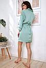 Халат шёлковый женский бирюзовый, фото 6