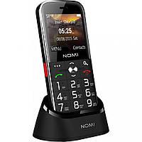"""Кнопочный телефон бабушкофон с большим дисплеем и док станцией на 2 сим карты Nomi i220 Black 2.2"""""""