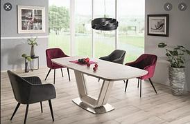 Стол раскладной ARMANI CERAMIC серый(эфект мрамору) серый мат 160(220)x90 (Signal)