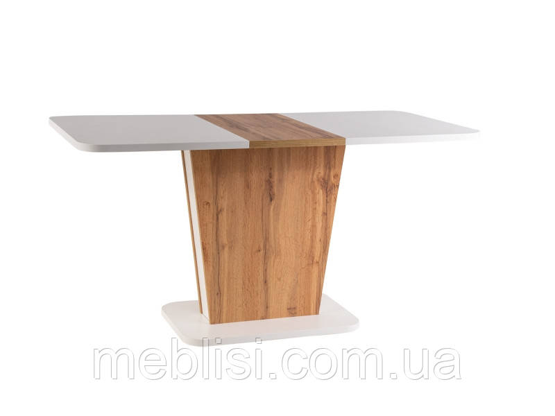 Стол раскладной CALIPSO белый/дуб вотан 110(145)x69 (Signal)