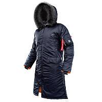 Мужская зимняя куртка аляска AIRBOSS Shuttle 171000143221 (темно-синяя)