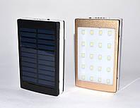 Портативное зарядное устройство Power Bank SAFE 30000 mAh с солнечной панелью и светодиодной панелью