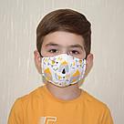 Детская маска защитная трехслойная многоразовая. Видео обзор. Мягкая резинка, фото 2