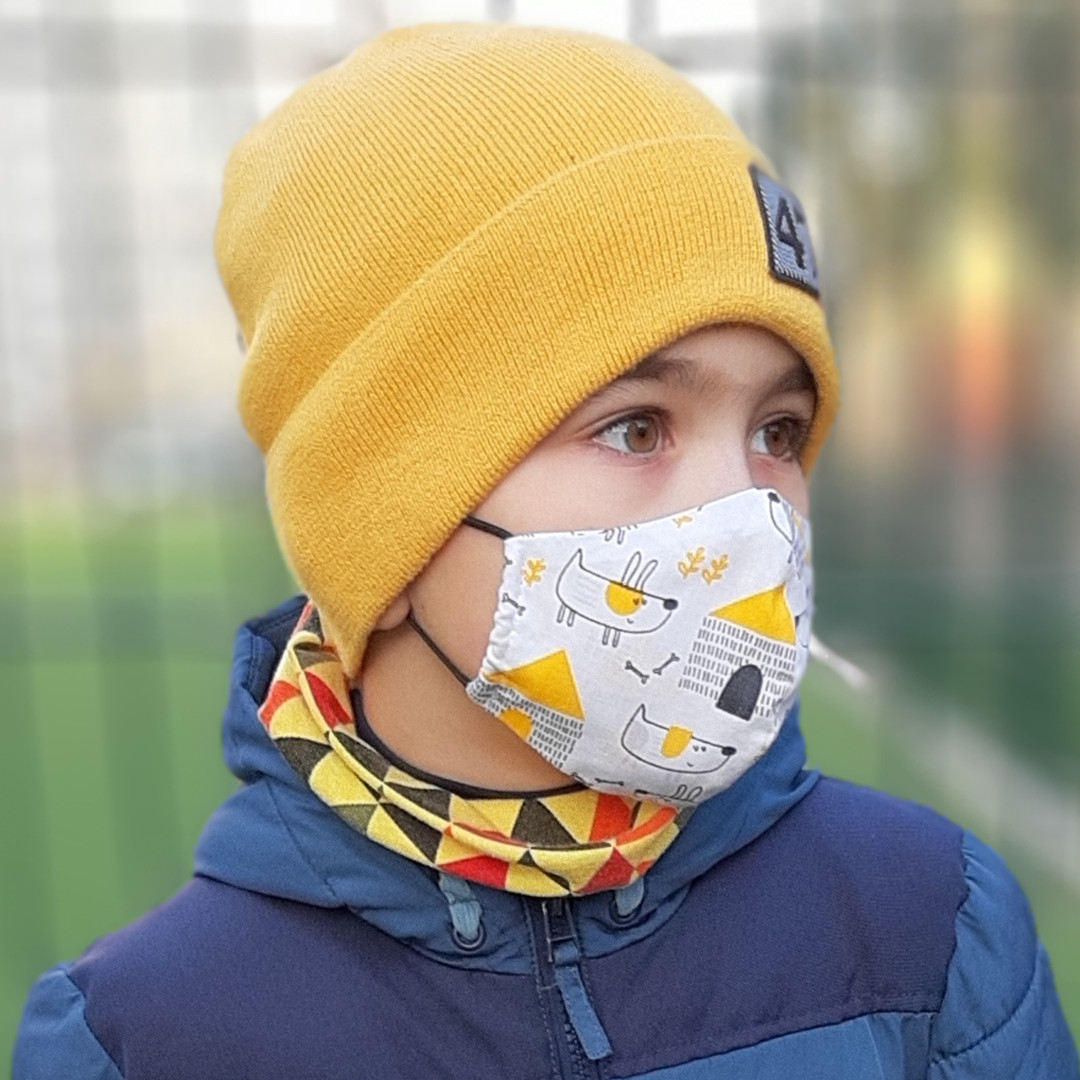 Детская маска защитная трехслойная многоразовая. Видео обзор. Мягкая резинка