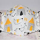 Детская маска защитная трехслойная многоразовая. Видео обзор. Мягкая резинка, фото 6