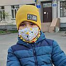Детская маска защитная трехслойная многоразовая. Видео обзор. Мягкая резинка, фото 3