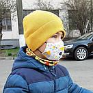 Детская маска защитная трехслойная многоразовая. Видео обзор. Мягкая резинка, фото 4