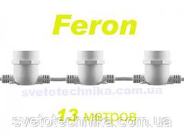 Гирлянда уличная13 метров белая IP65 Feron Е27