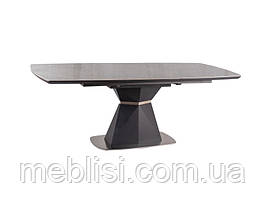 Стол раскладной CORTEZ CERAMIC серый(эфект мрамору) антрацид мат 160(220)x90 (Signal)