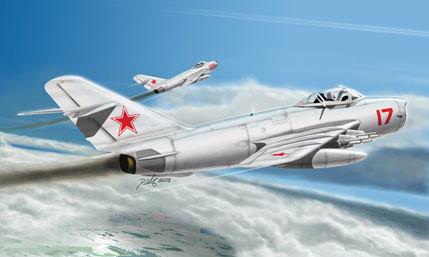 МиГ-17 ПФУ Fresco E. Сборная модель самолета в масштабе 1/48. HOBBY BOSS 80337