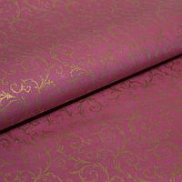 Обои для стен шпалери бордові з малюнком вензель золотий паперові бумажные 0,53*10м