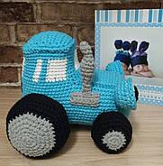 Вязаная игрушка Трактор, фото 3