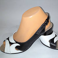 Босоножки женские, черные натуральная кожа ,производства Украина,модный современный дизайн,классика