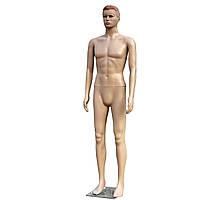 Манекен чоловічий тілесний з зачіскою