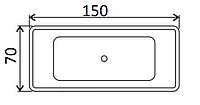 Ванни прямокутні Kaldewei 150х70