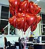 """Фольгированное красное сердце """"без рисунка"""" замечательный подарок на 8 марта"""