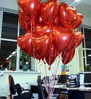 """Фольгированное красное сердце """"без рисунка"""" замечательный подарок на 8 марта, фото 1"""