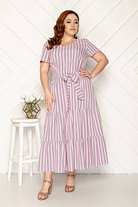 Женское платье в полоску 50-56 р