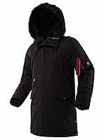 Чоловіча зимова куртка аляска Airboss N-5B Tardis 175000803228 (чорна)