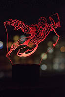 3d-светильник Спайдермен, Человек-паук, 3д-ночник, несколько подсветок (на пульте)