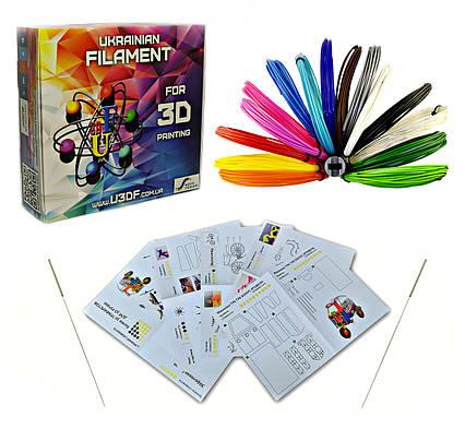 """Набір для 3D творчості """"Сальвадор Дали Mini"""" c PLA ПЛА пластиком 15 кольорів 75 метрів, фото 2"""