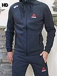 Спортивный костюм мужской Reebok серый, фото 3