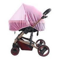 Антимоскітна сітка на коляску універсальна-рожева
