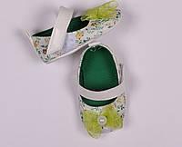 Детская обувь для девочки , туфли, босоножки, пинетки  белые, зеленые размер 17, 19