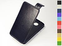 Откидной чехол из натуральной кожи для Motorola Moto Z3 / Moto Z3 Play